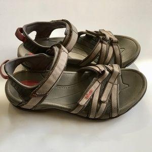 Teva Tirra Gray Velcro Strap Sandal Sport Sandal